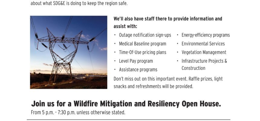 SDG&E wildfire mitigation & resilience open house